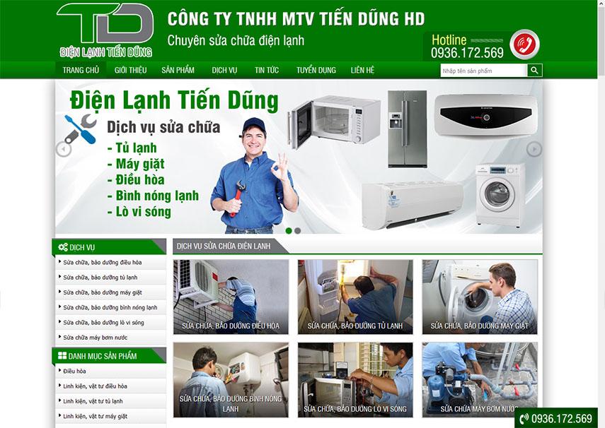 Thiết kế website bán hàng điện tử điện lạnh