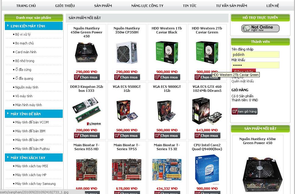 Thiết kế website cửa hàng điện tử