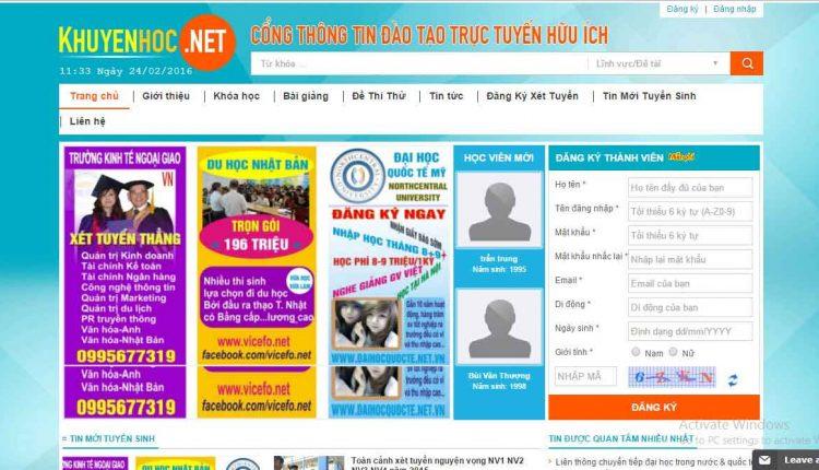 Thiết kế website đào tạo online chuyên nghiệp