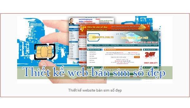 Thiết kế website bán sim điện thoại