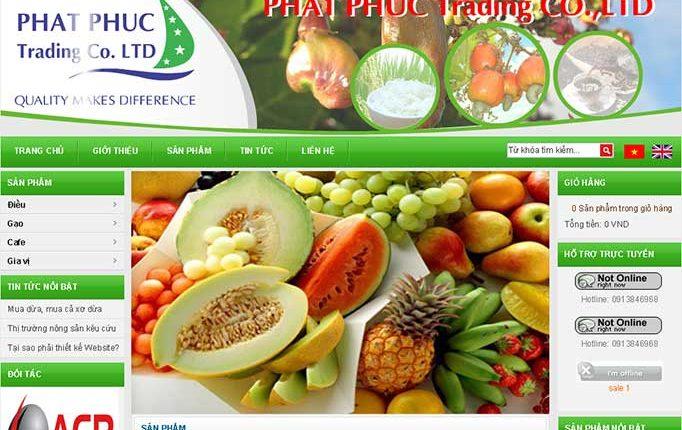 Thiết kế website nông sản