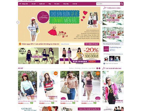 Thiết kế website bán lẻ