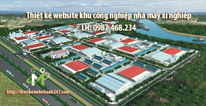 Thiết kế website khu công nghiệp, xí nghiệp, nhà máy