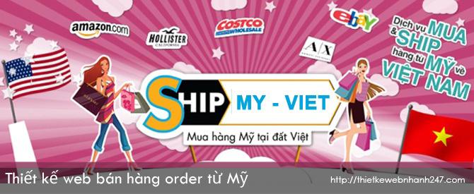 Thiết kế web bán hàng order nước ngoài