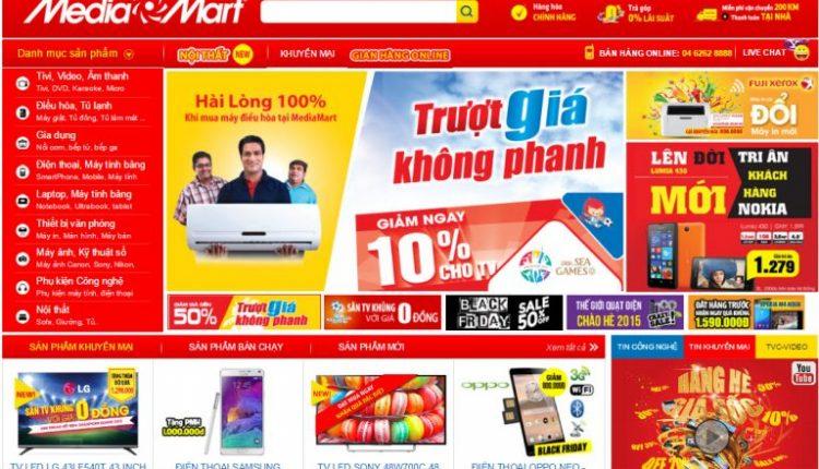 Thiết kế website bán hàng siêu thị