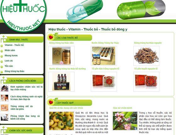Thiết kế web nhà thuốc chuyên nghiệp