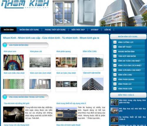 Thiết kế website nhôm kính chuyên nghiệp, chuẩn SEO