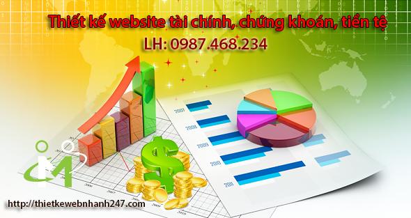 Thiết kế website tài chính, chứng khoán, tiền tệ