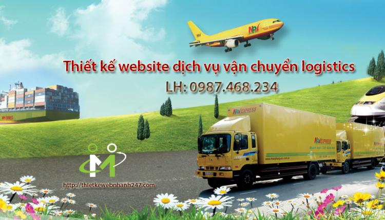 Thiết kế web vận chuyển logistics