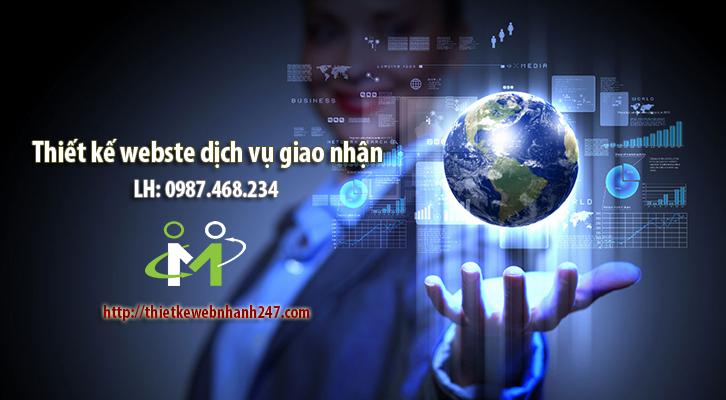 Thiết kế website dịch vụ giao nhận