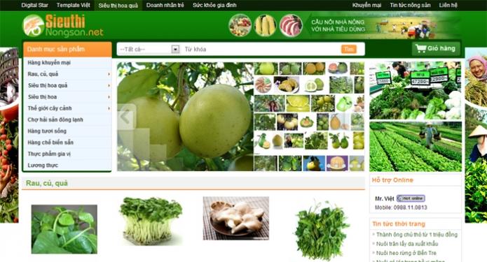 Thiết kế website nông sản chuyên nghiệp