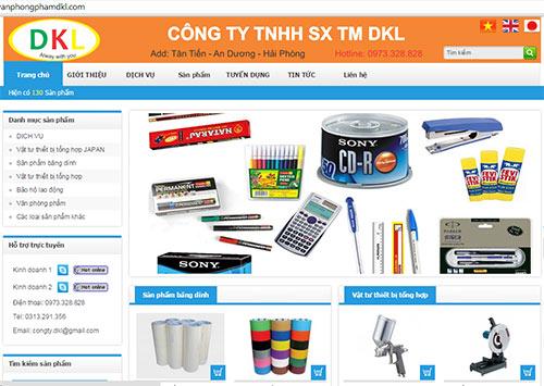 Thiết kế website bán văn phòng phẩm giá rẻ