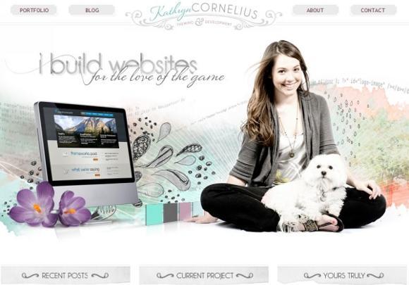 Thiết kế website cá nhân đẹp, độc đáo