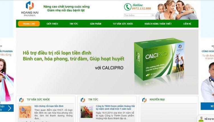 Thiết kế website bán dược phẩm uy tín chuyên nghiệp