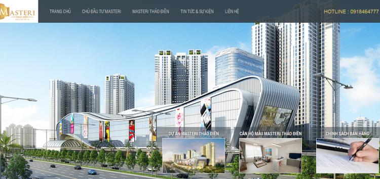 Thiết kế website dự án bất động sản