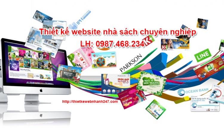 Thiết kế website nhà sách giá rẻ chuẩn seo