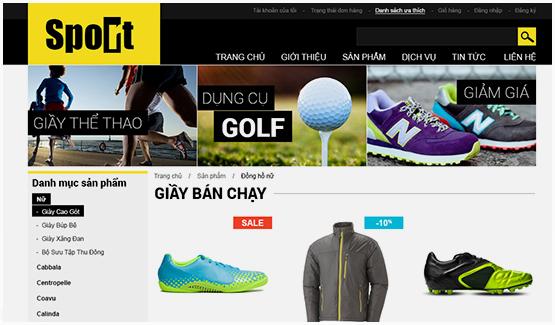 thiết kế web bán hàng đồ thể thao