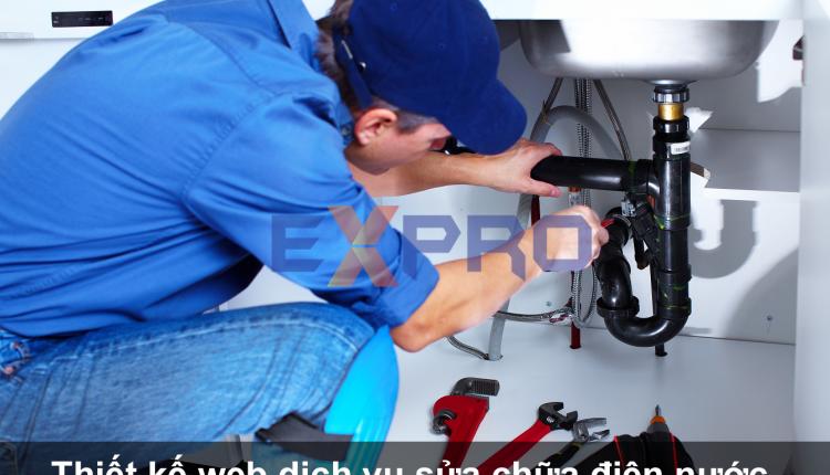 Thiết kế web dịch vụ sửa chữa điện nước chất lượng tốt