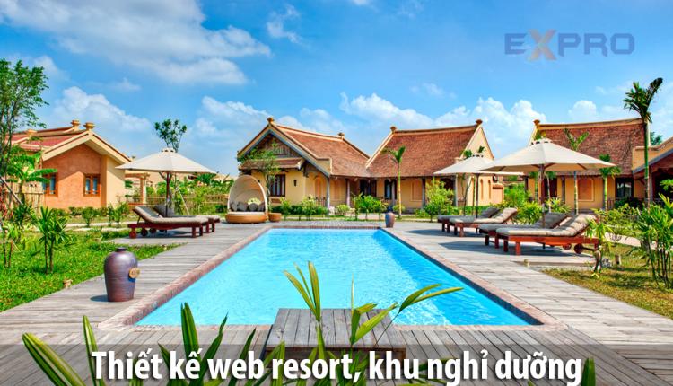 Thiết kế web resort, khu nghỉ dưỡng giá rẻ